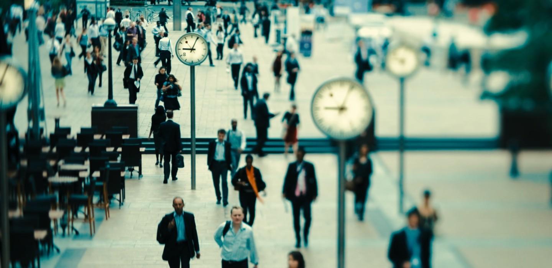 Zeit ist Geld. Die unerbittliche Mahnung am Finanzplatz London - Copyright DJV