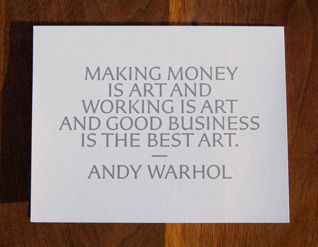 making money - andy warhol