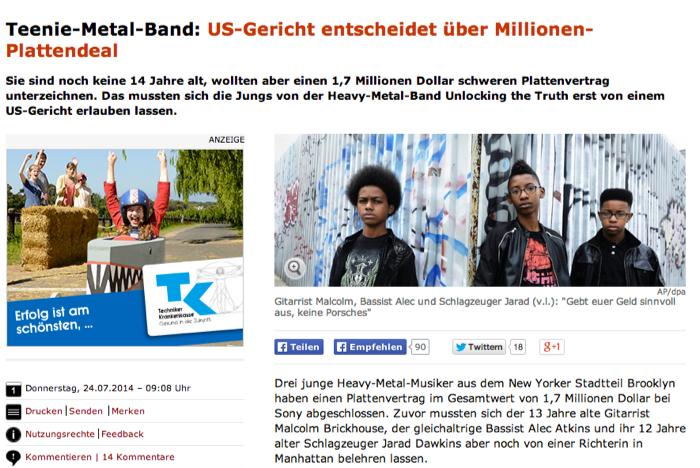 Estos estudiantes de octavo grado son el futuro de los metales pesados (Mitvergnuegen) Unlocking_the_Truth__Gericht_erlaubt_Teenie-Band_Plattendeal_mit_Sony_-_SPIEGEL_ONLINE-5