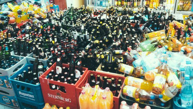 Späti, Bierflaschen