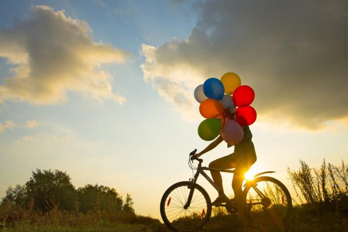 Fahrrad, Ballons