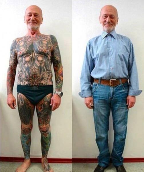 Mit opa unterm tattoo arm dem zillertaler der Opa tattoo