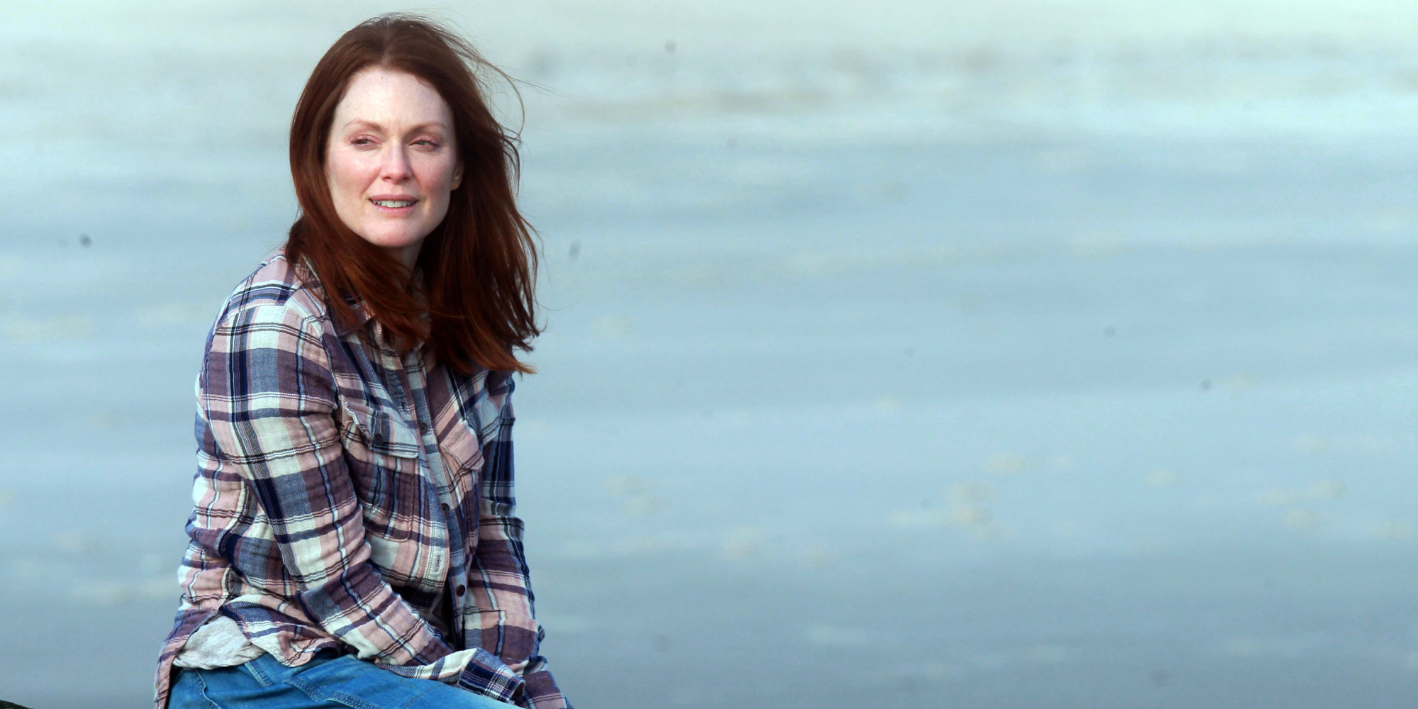 """NEW YORK, NY - MARCH 20:  Julianne Moore filming """"Still Alice"""" on March 20, 2014 in Long Island, New York.  (Steve Sands/GC Images)"""