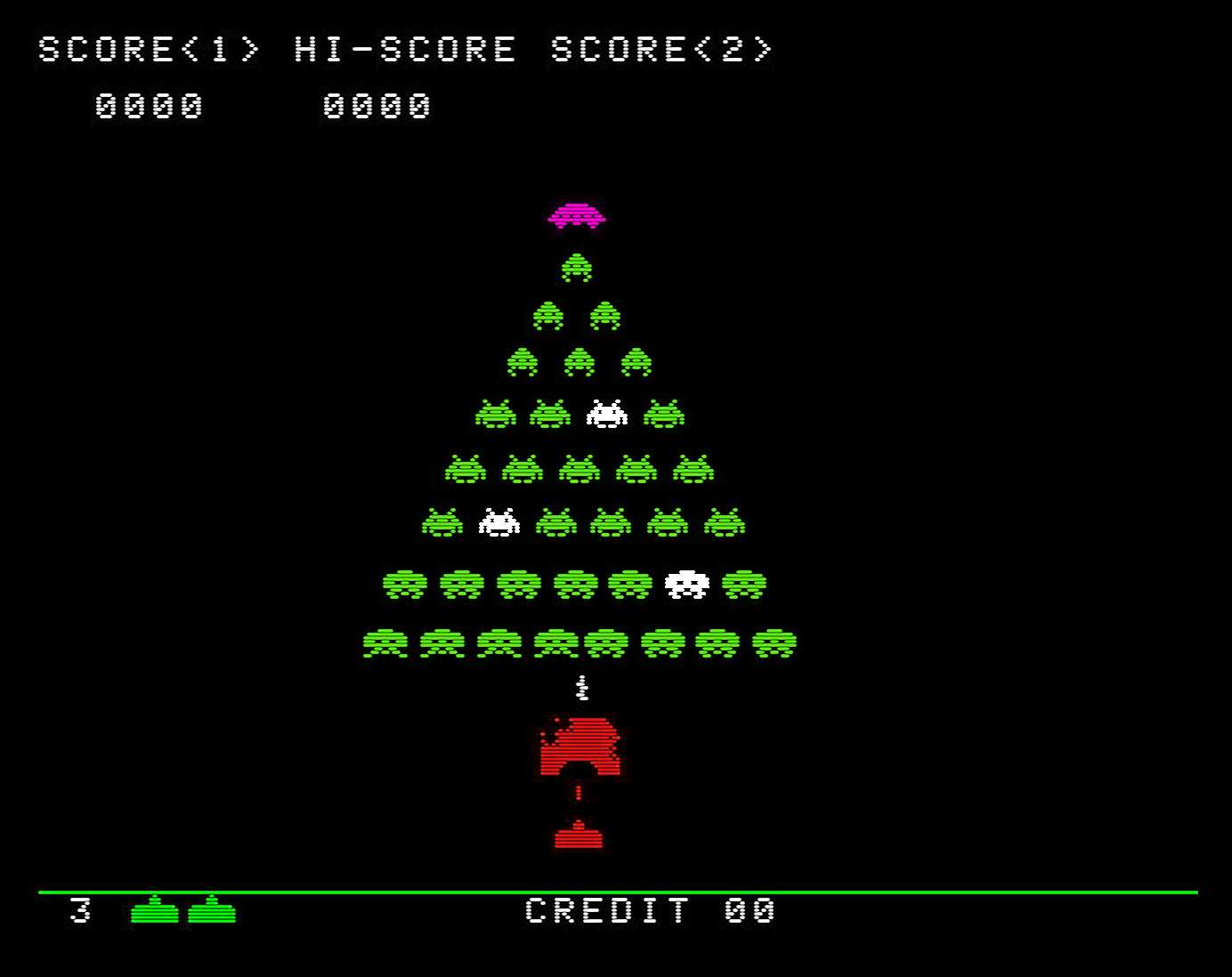 christams space invaders