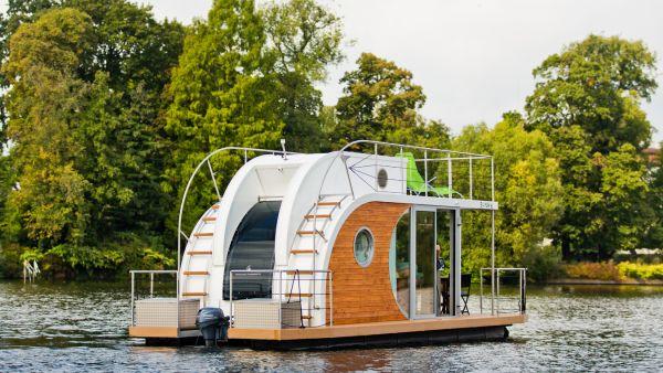 Mit den Nautilus-Hausbooten über die Mecklenburgische Seenplatte ...