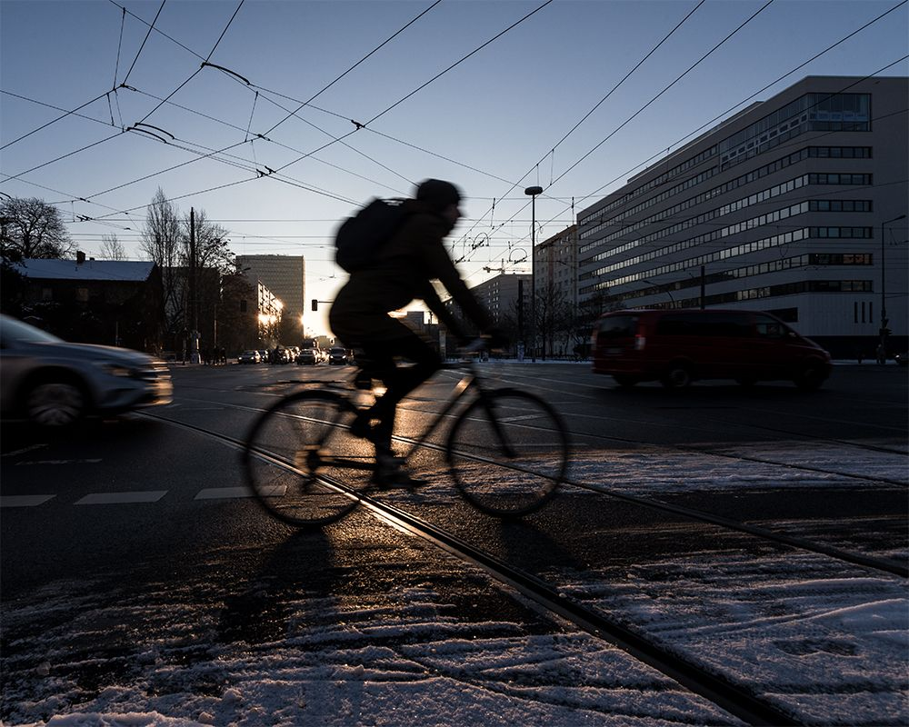 Fahrradfahrer auf der Straße