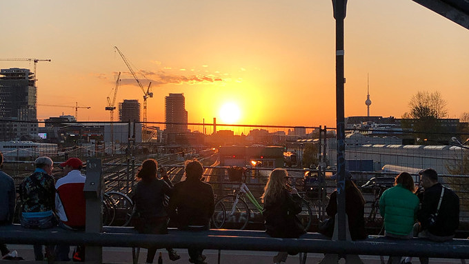 Sonnenuntergang, Berlin, Modersohnbrücke