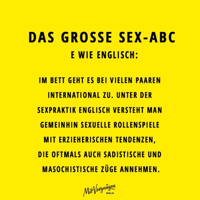Englisch, SEX-ABC