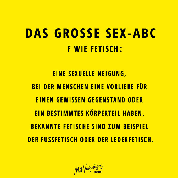 Fetisch, SEX-ABC