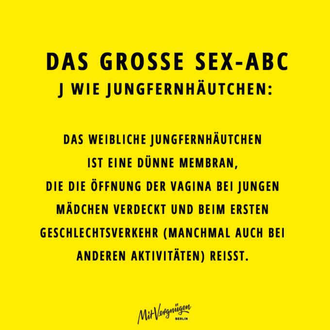Jungfernhäutchen, SEX-ABC