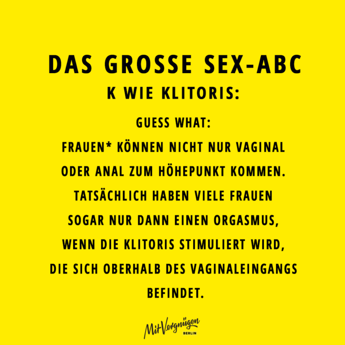 Klitoris, SEX-ABC