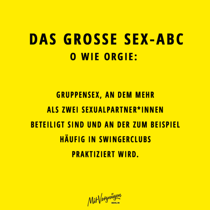 Orgie, SEX-ABC
