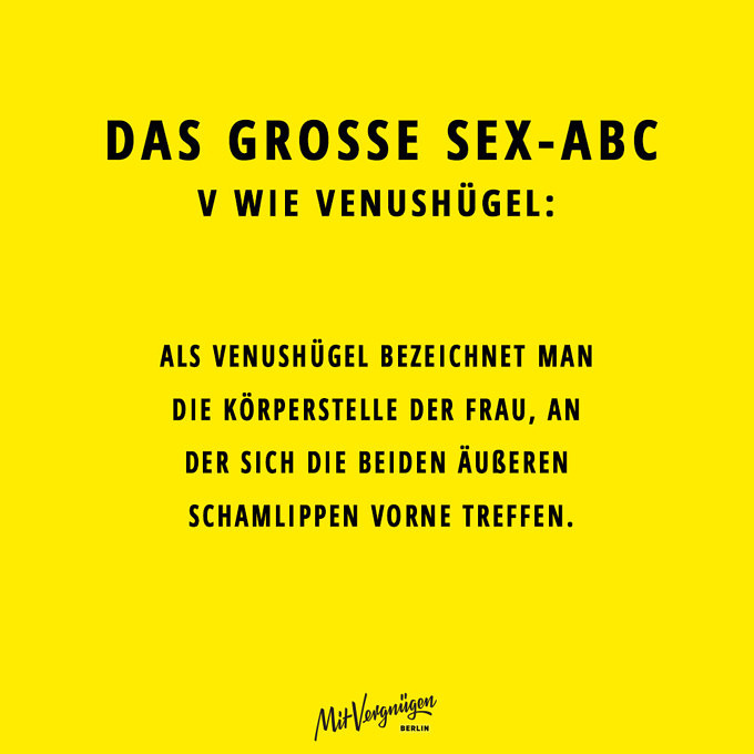 Venushügel, SEX-ABC