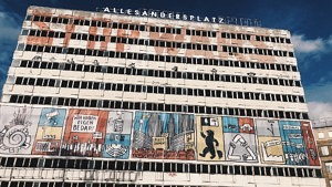 Haus der Statistik am Alexanderplatz. Statista Ausstellung, Allesandersplatz