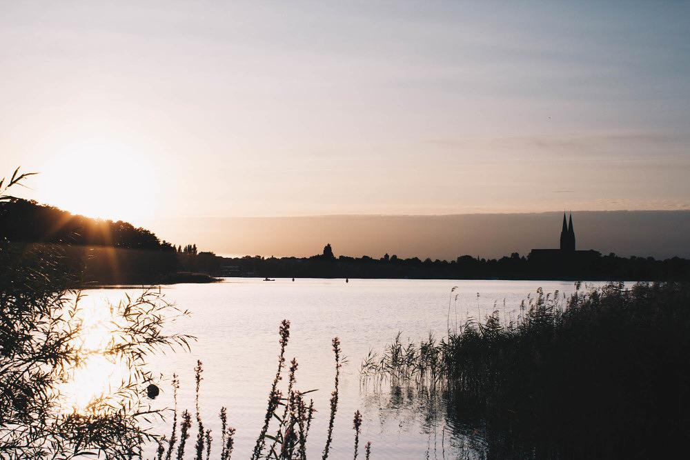 Sonnenuntergang am Ruppiner See in Brandenburg