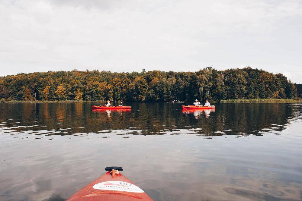 Kajakfahren im Ruppiner Seenland in Brandenburg