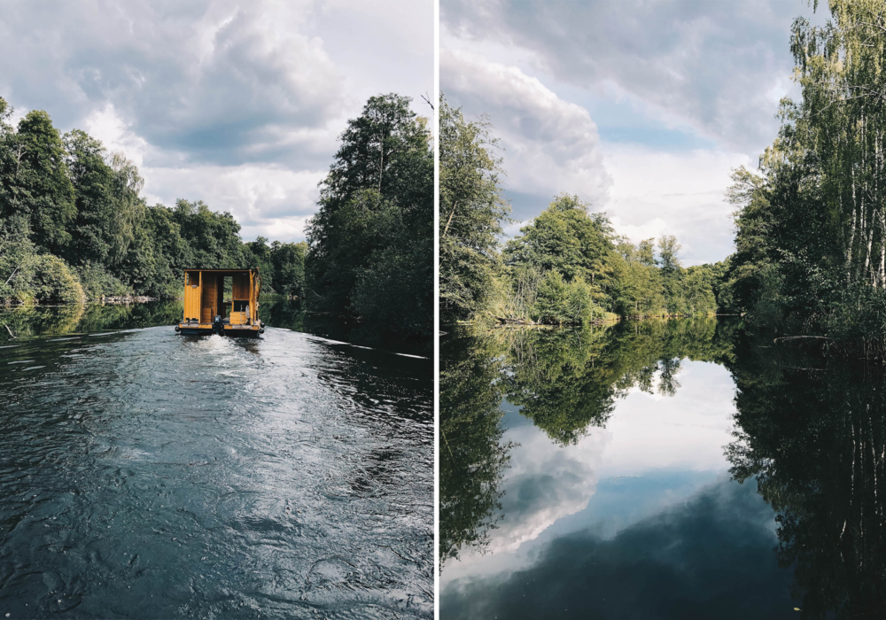 Mit dem Floß die Ruppiner Seen in Brandenburg entdecken