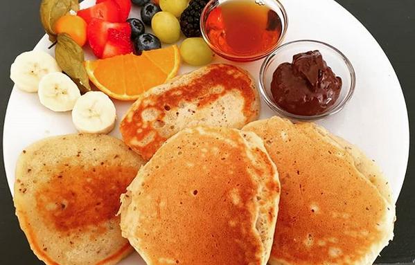 Vegane Pancakes im Café HOM