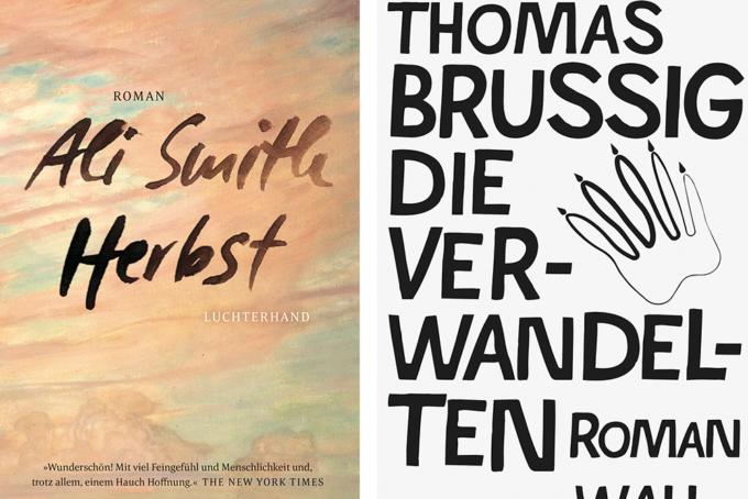 Buchcover von Ali Smith Herbst und Thomas Brussig Die Verwandelten