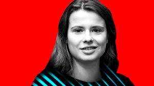 Luisa Neubauer, Junge Frau mit langen Haaren