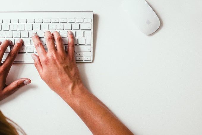 Arbeit Homoffice Tastatur