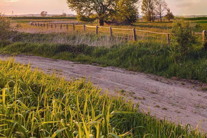 Feld Acker Bauer auf dem Land Spazieren Wandern
