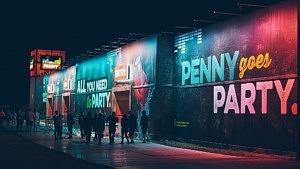 PENNY goes Party Werbung auf einem Festival