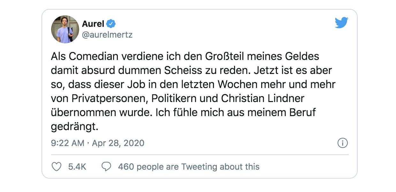 11 Tweets von Aurel Mertz, die euer Leben bereichern