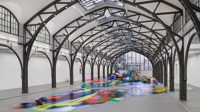 Katharina Grosse im Hamburger Bahnhof, Berlin Art Week 2020
