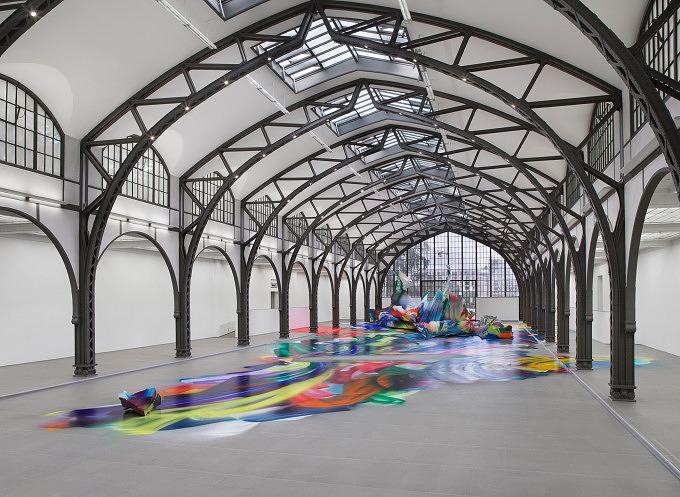 Katharina Grosse im Hamburger Bahnhof, Berlin Art Week 2020