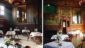 Collage vom Spiegelsaal im Clärchens Ballhaus