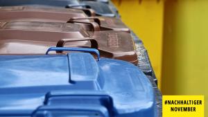 Mülltonnen, Mülle trennen, Abfall, Nachhaltiger November