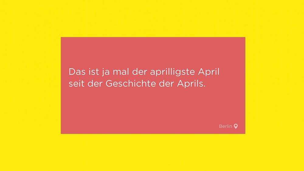 Jodel, Jodel der Woche, April