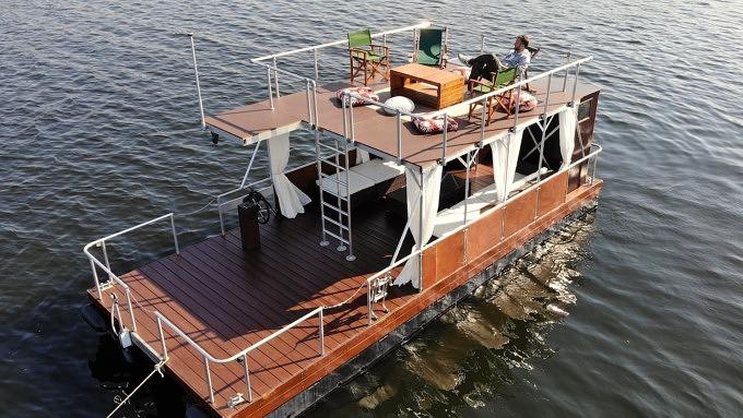 Floß, Havel, Stößensee, Boot fahren, Berlin, Goldelse